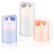 The Source Remote Control Multicolour Candles (Set of 3)