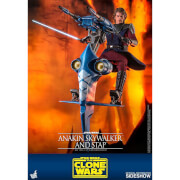 Hot Toys Star Wars The Clone Wars Action Figure 1/6 Anakin Skywalker & STAP 31 cm