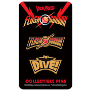 Flash Gordon Limited Edition Hard Enamel Pin Set 3 by Florey