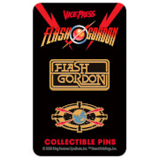 Flash Gordon Limited Edition Hard Enamel Pin Set 4 by Florey