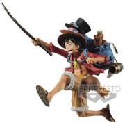 Banpresto One Piece Three Brothers Figure(A:Monkey.D.Luffy) Figure