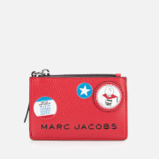 Marc Jacobs Women's The Box Peanuts Americana Top Zip Wallet - Red Multi