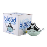 Kidrobot Frank Kozik Big Mongers Captain Blood 4.5 Inch Blue