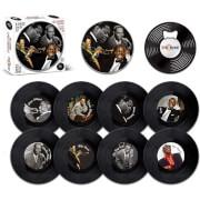 Jazz Legends 8 Pieces Coaster Tin Set