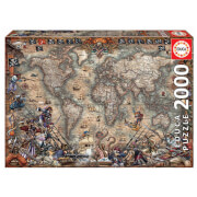 Pirates Map Jigsaw Puzzle (2000 Pieces)