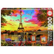 Sunset in Paris Jigsaw Puzzle (3000 Pieces)