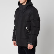 Mackage Men's Riley Medium Down Sheepskin Hood Insert Jacket - Black - US 42/L