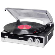 Groov-e GVTT01BK Vintage Vinyl Record Player with Built-in Speakers - Black