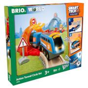 Brio Smart Tech Sound - Juego de Túneles de Acción Ferroviaria