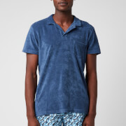 Orlebar Brown Men's Terry Towelling Polo Shirt - Lake Blue - S