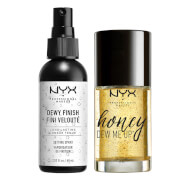 nyx professional makeup dewy primer & setting spray duo set