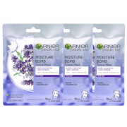 Купить Garnier Moisture Bomb Lavender Hydrating Face Sheet Mask X 3