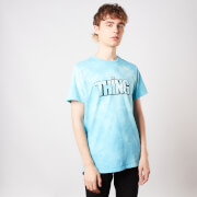 The Thing Man Is The Warmest Place To Hide Unisex T-Shirt - Turquoise Tie Die