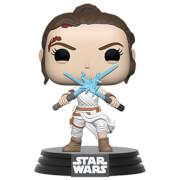 Star Wars The Rise of Skywalker Rey w/ 2 Lightsabers Funko Pop Vinyl