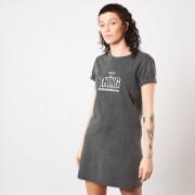 The Thing Nobody Trusts Anybody Women's T-Shirt Dress - Black Acid Wash
