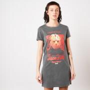 Friday the 13th Jason Lives Women's T-Shirt Dress - Navy Acid Wash