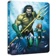 Aquaman -Steelbook 4K Ultra HD Steelbook (Blu-ray 2D Inclus) - Exclusivité Zavvi