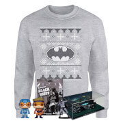 DC Comics Officially Licensed MEGA Christmas Gift Set - Includes Christmas Sweatshirt plus 3 gifts