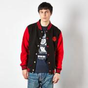 Doctor Who Gallifreyan Varsity Women's Varsity Jacket - Black/Red