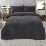 Charcoal Teddy Duvet Set
