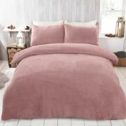 Blush Pink Teddy Duvet Set