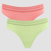 MP Women's Essentials Thong (2 Pack) Butterfly/Geranium Pink