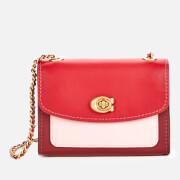 Coach Women's Colorblock Parker 18 Shoulder Bag - Red