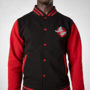 Ghostbusters Slime Varsity Jacket  - Black/Red