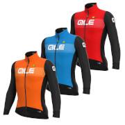 Alé Pr-S Logo Dwr Long Sleeve Jersey - XL - Orange/Black