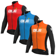 Alé Pr-S Logo Dwr Long Sleeve Jersey - XL - Orange/Black