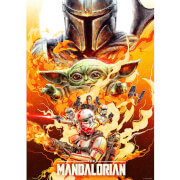 """Star Wars The Mandalorian """"Redemption"""" Lithograph by Chris Christodoulou"""