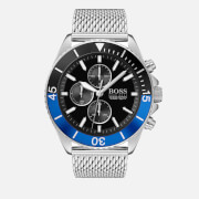 BOSS Hugo Boss Men's Ocean Edition Mesh Strap Watch - Black/Blue/Silver