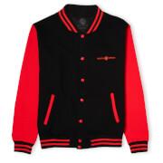 Mortal Kombat Fight Unisex Varsity Jacket - Black/Red