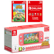 Nintendo Switch Lite (Coral) + Animal Crossing: New Horizons + Nintendo Switch Online 3 Months