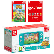 Nintendo Switch Lite (Turquoise) + Animal Crossing: New Horizons + Nintendo Switch Online 3 Months