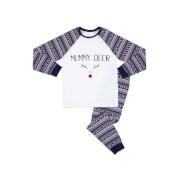 Mummy Deer Women's Patterned Pyjamas - White / Navy