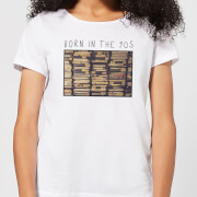 Born In The 90s Womens T-Shirt - White - M - White