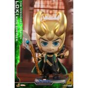 Hot Toys Cosbaby Marvel Avengers Endgame (Size S) - Loki (with Helmet/The Avengers Version)