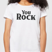 You Rock Womens T-Shirt - White - 3XL - White