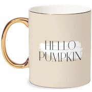 Hello Pumpkin Bone China Gold Handle Mug