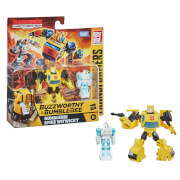 Transformers Buzzworthy Bumblebee War for Cybertron Core Bumblebee & Spike Witwicky 2-Pack