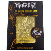 24K Gold Plated Yu-Gi-Oh! Dark Magician Card