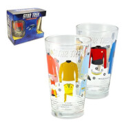Coop Star Trek Uniforms & Equipment Pint Glasses Set of 2