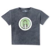 Marvel Variance Authority Loki Women's Cropped T-Shirt - Black Acid Wash