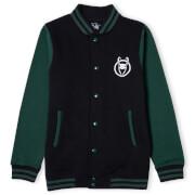 Marvel Loki Logo Unisex Varsity Jacket - Black/Green