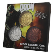 DUST! Doom 5th Anniversary Limited Edition Set of 3 Medallion Collection - Zavvi Exclusive