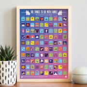 100 Things To Do with Family Scratch Off Bucket List Poster