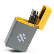Flip - Retractable 3-in-1 Charge Cable - Yellow
