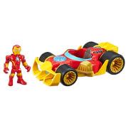 "Hasbro Playskool Heroes Marvel Super Hero Adventures Iron Man Speedster 5"" Action Figure and Vehicle"