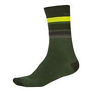 BaaBaa Merino Stripe Sock - Forest Green